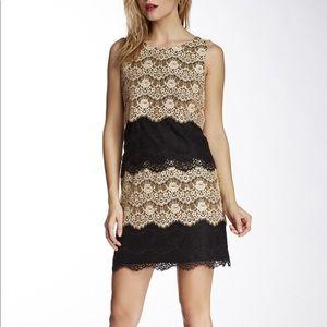 Jessica Simpson 12 Tiered Scallop Lace Mini Dress